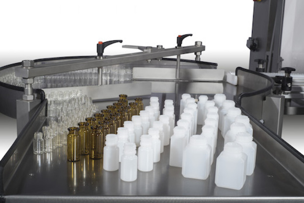 AL55 FL Flaschenfüller mit Flaschen