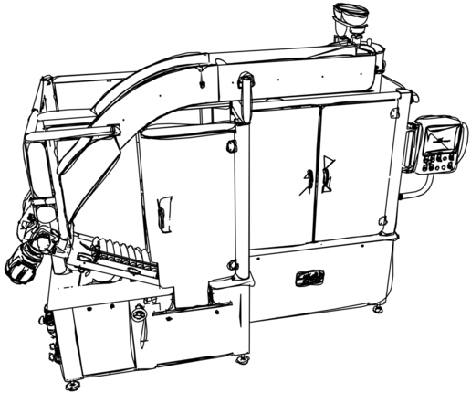 TU110 Ovale Tubenfüllmaschine Skizze