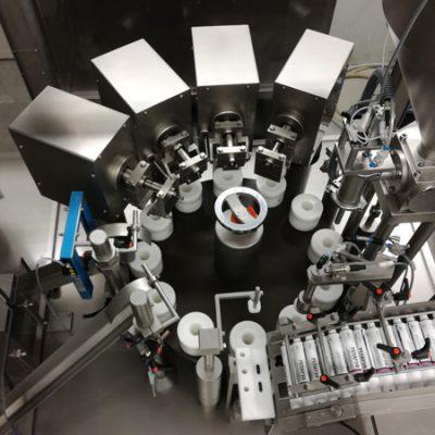 Innenansicht Tubenfüllmaschine Lebensmittelindustrie
